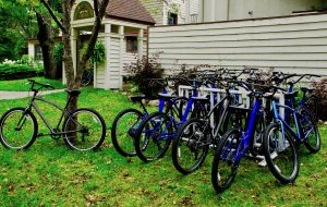 rental bicycles at the beaver island lodge