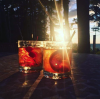 cocktails in the sunset
